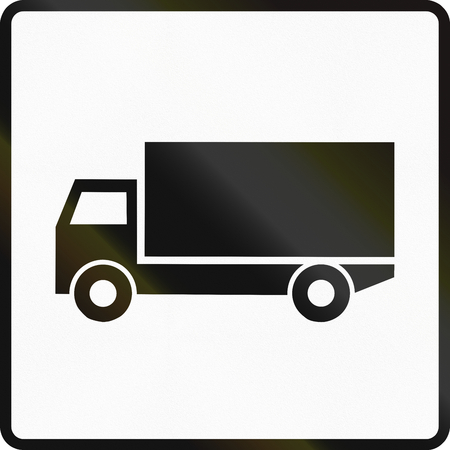 auxiliary: Road sign used in Slovakia - Trucks.