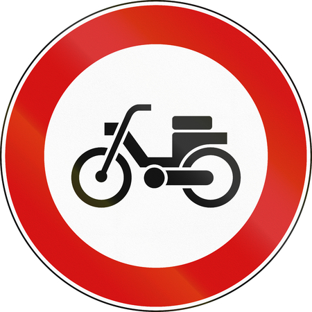 mopeds: Road sign used in Italy - mopeds.