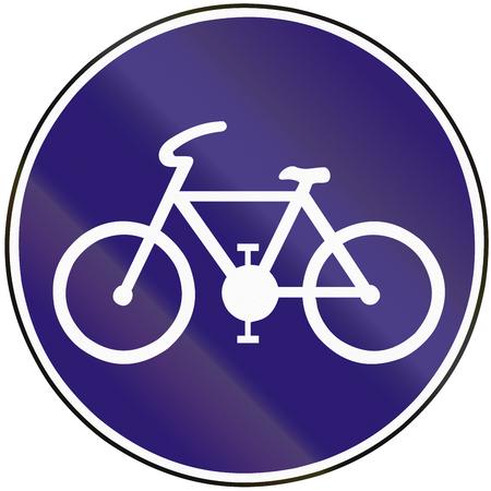 eastern europe: Road sign used in Slovakia - Bike path.