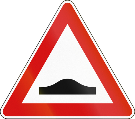 bump: Road sign used in Italy - bump. Stock Photo
