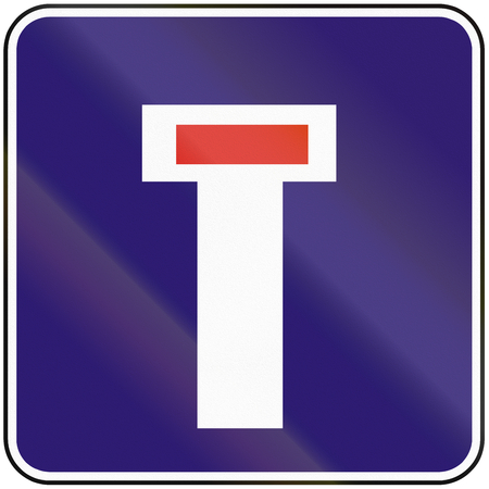 culdesac: Road sign used in Slovakia - Dead end.