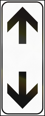 additional: Additional Road sign used in Italy - continues vertically.