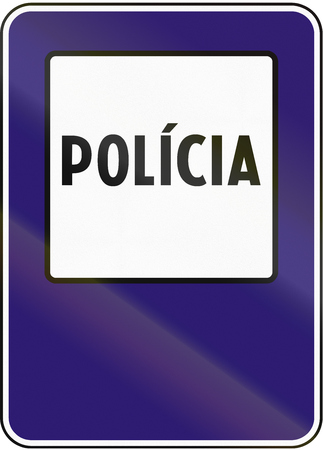 informational: Road sign used in Slovakia - Police.
