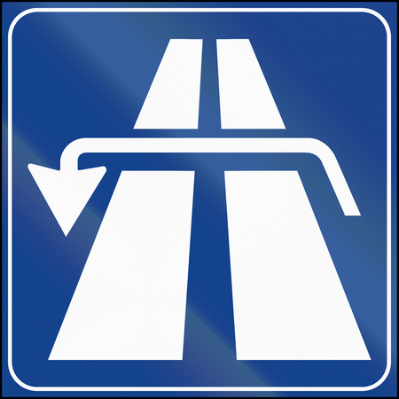 Road sign used in Italy - reverse.