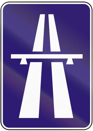 motorway: Road sign used in Slovakia - Motorway.