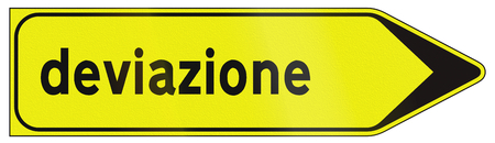 detour: Road sign used in Italy - detour signpost.