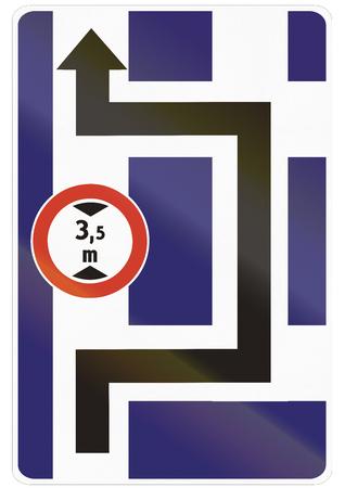 detour: Road sign used in Slovakia - Detour.