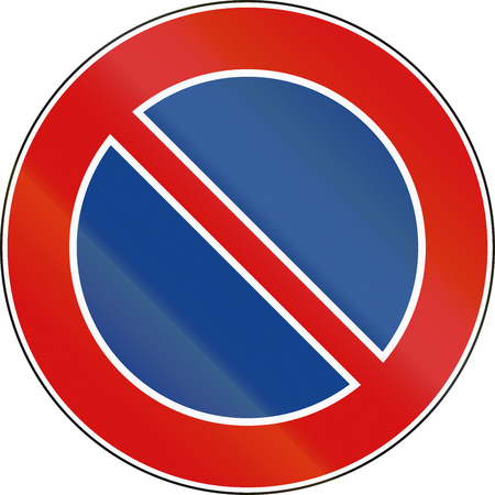 Road sign used in Italy - no parking.