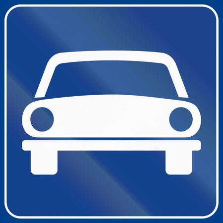 motorizado: La se�al de tr�fico utilizado en Italia - vehicular �nicamente veh�culos.