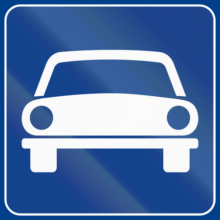 motorized: Road sign used in Italy - motorized vehicles only.