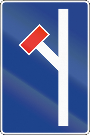 Road sign used in Spain - Dead end. Stock Photo