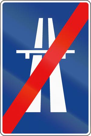 freeway: Road sign used in Spain - End of freeway.