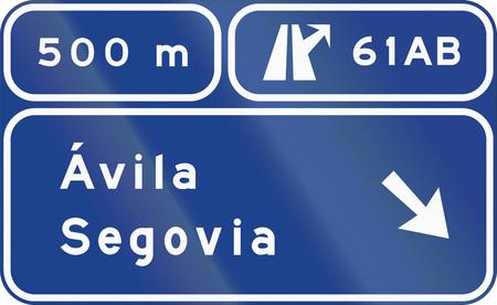 道路標識は、サイン スペイン - 方向で使用されます。