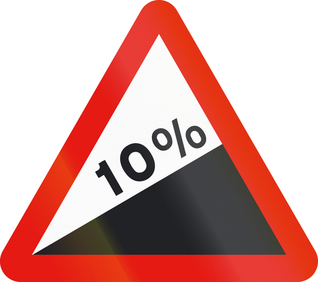 uphill: Road sign used in Spain - Steep ascent.