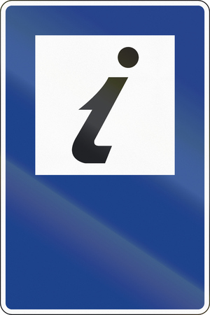 rectangulo: Road sign used in Spain - Tourist info.