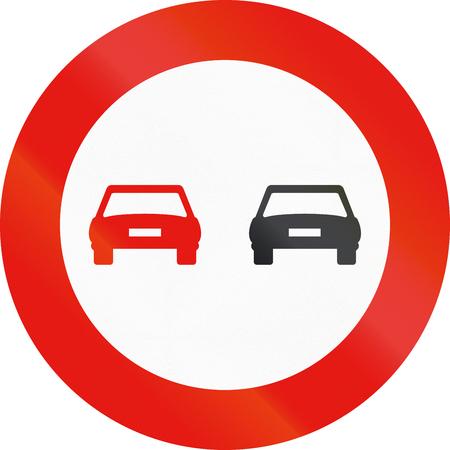 no pass: La señal de tráfico utilizado en España - adelantamiento prohibido.