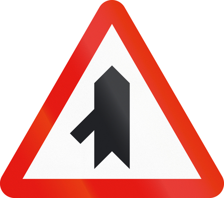 intersection: Road sign used in Spain - Intersection with priority. Stock Photo