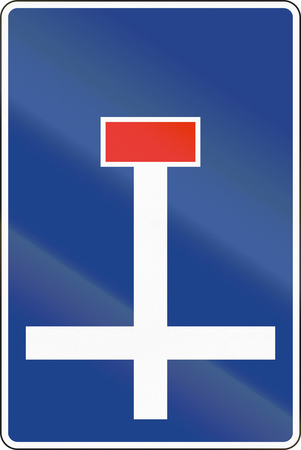 culdesac: Road sign used in Spain - Dead end. Stock Photo