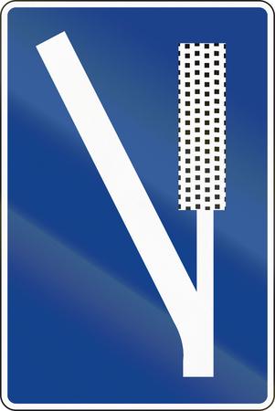 emergency braking: Road sign used in Spain - Emergency braking area.