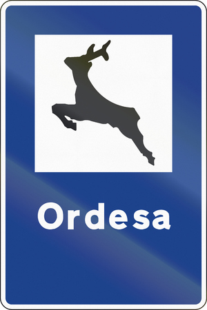national park: Road sign used in Spain - National Park Ordesa.