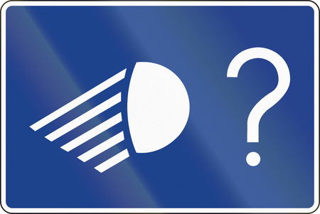 Road sign used in Spain - End of mandatory low-beam light.
