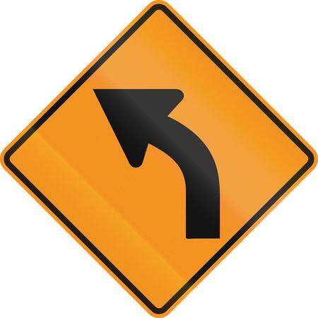 roadworks: Temporary road control version - Left curve.