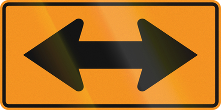roadworks: United States MUTCD road sign - Both directions.