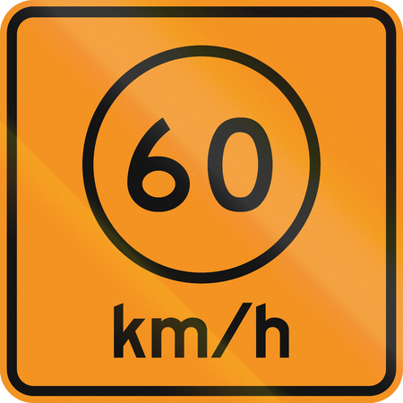 on temporary: Temporary road control version - Speed limit.