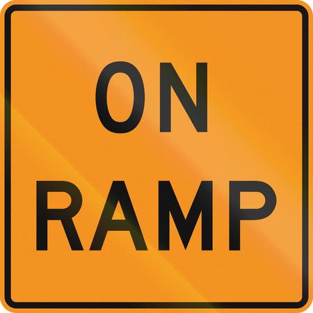 roadworks: United States MUTCD road sign - On ramp.