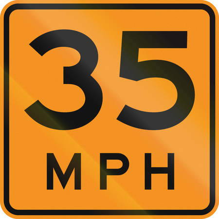 speed limit: Temporary road control version - Speed limit.