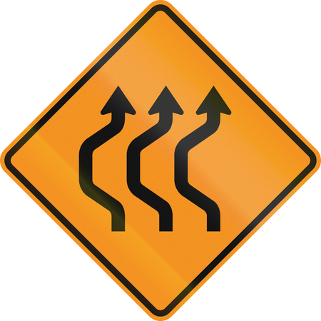 deviation: United States MUTCD road sign - Road deviation. Stock Photo