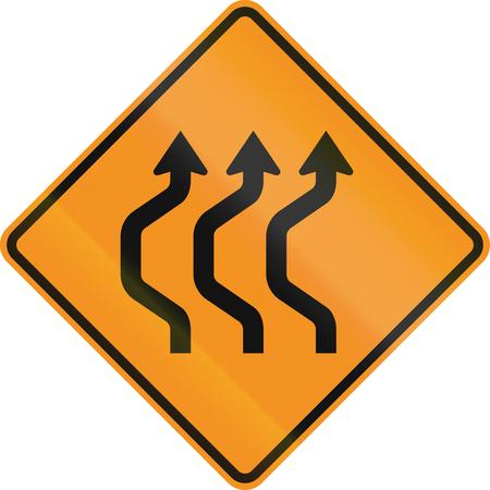 deviation: United States MUTCD road sign - Road deviation. Stock Photo