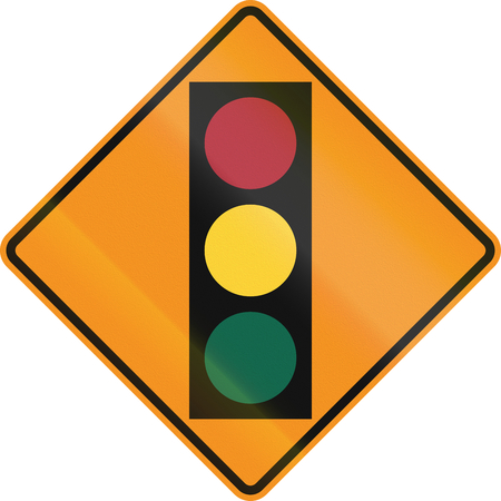 on temporary: Temporary road control version - Traffic lights.