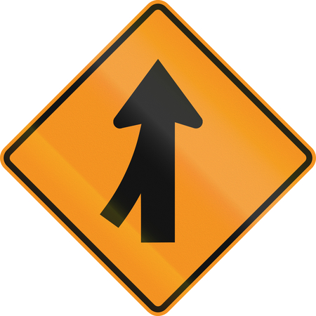 intersection: United States MUTCD road sign - Intersection with merge.