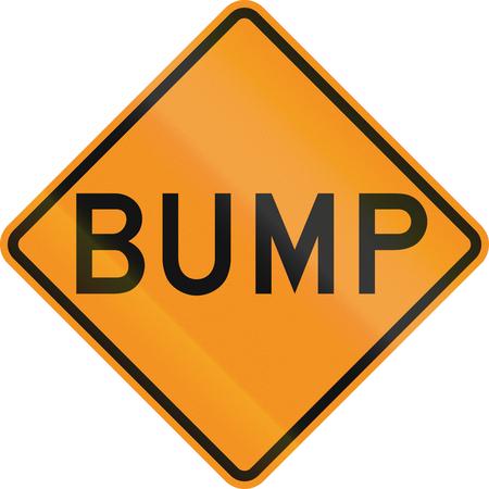 on temporary: Temporary road control version - Bump. Stock Photo