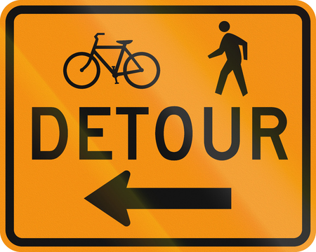 diversion: United States MUTCD road sign - Detour.
