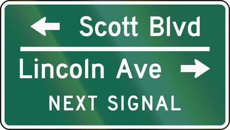 boulevard: United States MUTCD guide road sign - Destination sign.