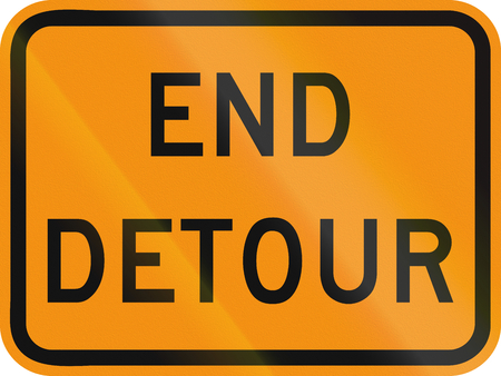 detour: United States MUTCD road sign - End Detour.