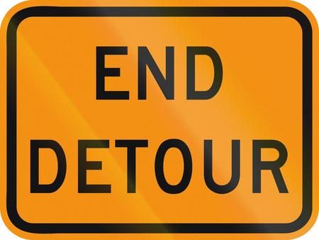 roadworks: United States MUTCD road sign - End Detour.