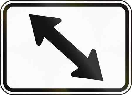 lane: United States MUTCD guide road sign - Lane direction.