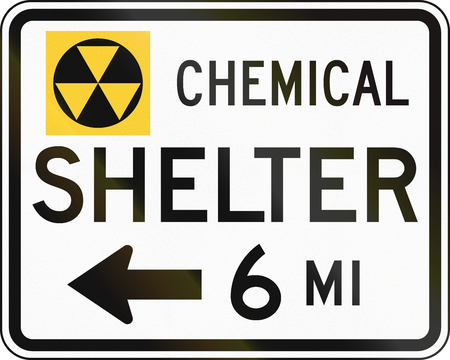 fallout: United States MUTCD emergency road sign - Fallout shelter.