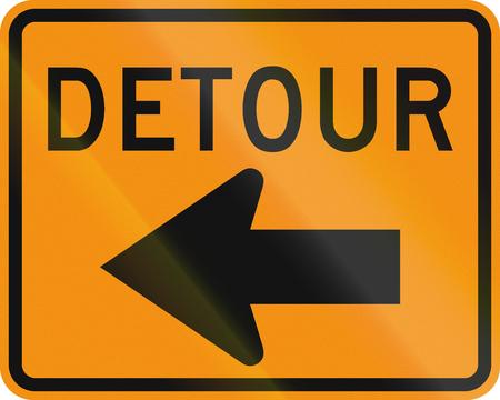 roadworks: United States MUTCD road sign - Detour.