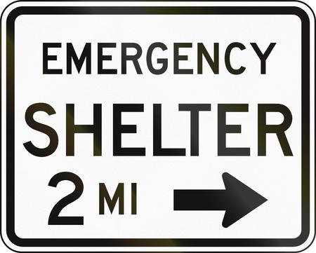 shelter: United States MUTCD emergency road sign - Emergency shelter.