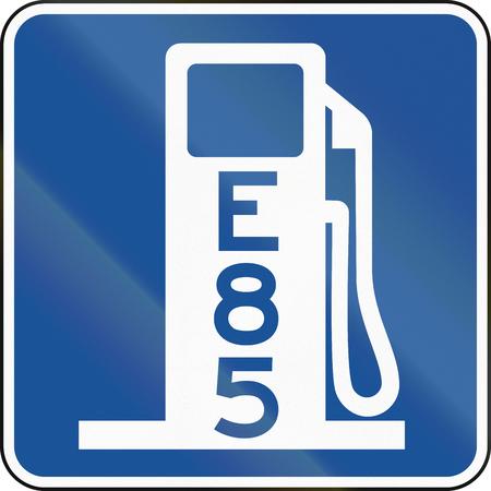 미국 MUTCD도 표지판 - E85와 주유소입니다.