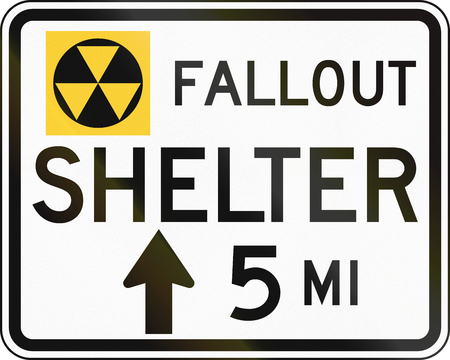 fallout: United States MUTCD road sign - Fallout shelter.