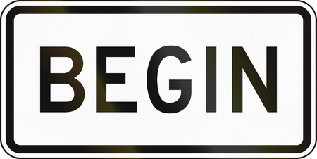 empezar: Estados Unidos carretera MUTCD signo - Begin.