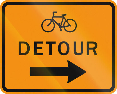 detour: United States MUTCD road sign - Detour.