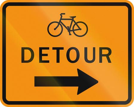 detour: United States MUTCD road sign - Detour.