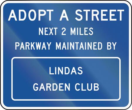 アメリカ合衆国 MUTCD 道路標識 - 道路を採用します。
