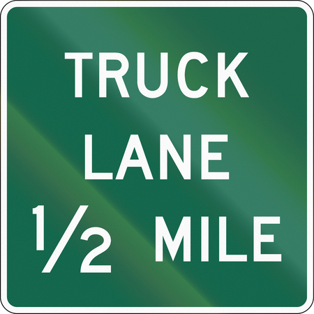 lane: United States MUTCD road sign - Truck lane.